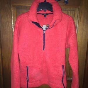 J Crew Polar Fleece1/2 zip pullover